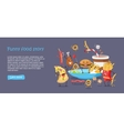 Funny Food Story Conceptual Banner Web Site Design vector image