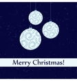 Vintage looking Merry Christmas post card with vector image vector image