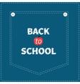 Blue denim jeans pocket dash line Back to school vector image
