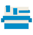 Blue paper tags - ribbons vector image vector image