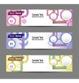 set of colorful banners eps 10 vector image