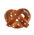 Soft Bavarian pretzels objects vector image