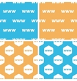 WWW pattern set colored vector image