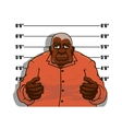 Cartoon gangster man or prisoner vector image