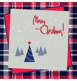 christmas frame design vector image vector image