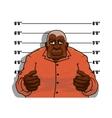 Cartoon gangster man or prisoner vector image