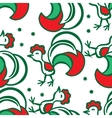 Christmas background with a rooster seamless vector image