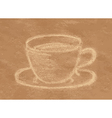 coffee chalk vector image