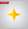 isolated asterisk flat icon star element vector image