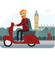 londoner on scooter vector image