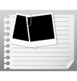 Photo Cards on white blank vector image