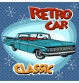 Retro car classic abstract model vector image