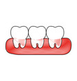 teeth icon image vector image