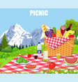 Picnic in the mountains vector image