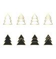 a set of geometric christmas trees vector image