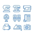 Set of household appliances icons vector image
