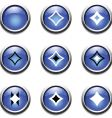 blue buttons with decoration vector image vector image