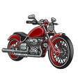 red color motorcycle vector image vector image