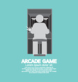 Arcade Machine Player Graphic Symbol vector image