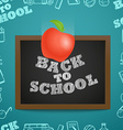 Back to scholl concept Falling apple to the vector image