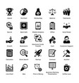 business and finance glyph icons set 1 vector image