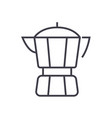 coffee maker line icon sign vector image