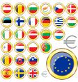 European Union buttons vector image