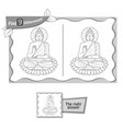 find 9 differences game buddha vector image