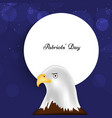 patriots day background vector image