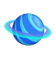 Saturn planet icon cartoon style vector image