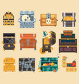 treasure trunk chest box vector image