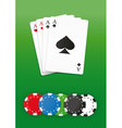 Poker chips and cards vector image vector image