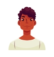 Young african man face neutral facial expression vector image