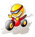 funny bike rider vector image vector image