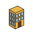 apartments building icon vector image