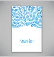 Beautiful card template vector image