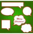 Set of bright red speech bubbles for your vector image vector image
