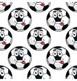 Goofy soccer ball seamless pattern vector image