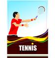al 1009 tennis 01 vector image vector image