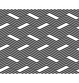 Zig zag black and white geometric seamless pattern vector image