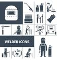 Welder Icons Black Set vector image