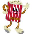 nostalgic popcorn vector image vector image
