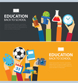 education and back to school banner concept vector image