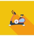 Icon exercise bicycle vector image vector image