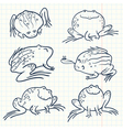 doodle frogs vector image vector image