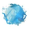 blue watercolor blot vector image