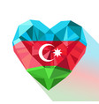 crystal azerbaijans heart with the flag of the vector image