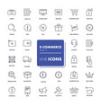 line icons set e-commerce vector image
