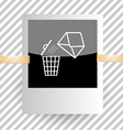 mail with bin vector image