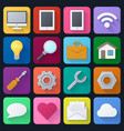 set of color universal icons vector image